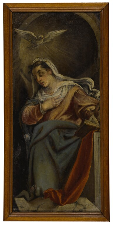View 5. Thumbnail of Lot 569. Angel of the Annunciation; Virgin of the Annunciation: a pair.