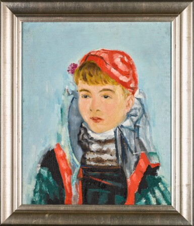 View 2. Thumbnail of Lot 111. Girl in a Red Beret.