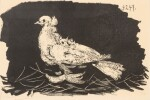 PABLO PICASSO | PIGEON BLANC FOND NOIR (B. 420; M. 65)
