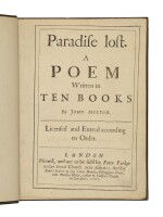 MILTON, JOHN | John Milton. Paradise Lost. London: [Samuel Simmons for] Peter Parker, Robert Boulter, Matthias Walker, 1667