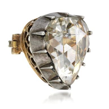 View 2. Thumbnail of Lot 22. Diamond brooch, mid 19th century.
