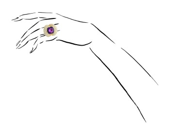 View 4. Thumbnail of Lot 3. MICHELE DELLA VALLE | AMETHYST AND DIAMOND RING.