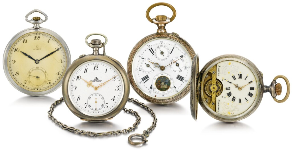 VARIOUS MAKERS | A GROUP OF FOUR 20TH CENTURY KEYLESS WATCHES
