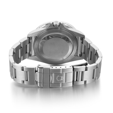 View 4. Thumbnail of Lot 701. REFERENCE 16710, GMT MASTER II 'STICK DIAL' STAINLESS STEEL DUAL-TIME WRISTWATCH WITH DATE AND BRACELET CIRCA 2007.