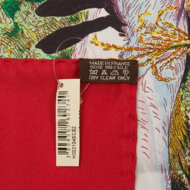 "View 4. Thumbnail of Lot 198. Hermès ""Madison Avenue"" Silk Twill Scarf 90cm."