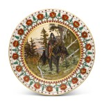 A GROUP OF SIX PORCELAIN PLATES, KORNILOV BROTHERS PORCELAIN FACTORY, ST PETERSBURG, 1884-1917