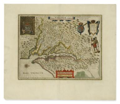 View 1. Thumbnail of Lot 172. BLAEU, WILLEM JANSZOON   Nova Virginae tabula. [Amsterdam, ca. 1640 or later].