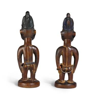 View 5. Thumbnail of Lot 151. Nigeria, Yoruba Peoples, circa 1900   Ere Ibeji Figures.