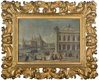 View 5. Thumbnail of Lot 15. FOLLOWER OF LUCA CARLEVARIJS | VENICE, A VIEW OF THE PIAZZETTA; AND VENICE, A VIEW OF THE MOLO .