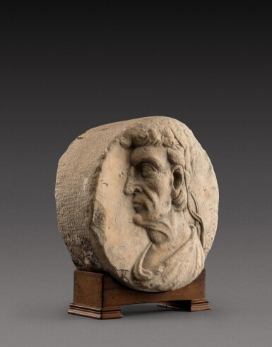 View 3. Thumbnail of Lot 134. Northern Italian, 16th century | Relief roundel with an Emperor.