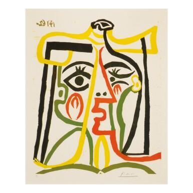 View 1. Thumbnail of Lot 51. PABLO PICASSO | PORTRAIT DE JACQUELINE AU CHAPEAU DE PAILLE (B. 1067; BA. 1279).