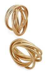 TWO GOLD BRACELETS, ONE BY WEINGRILL