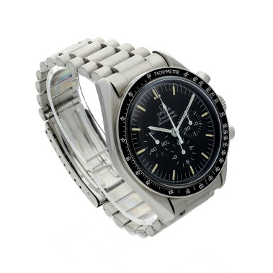 View 3. Thumbnail of Lot 11. OMEGA | SPEEDMASTER 20TH ANNIVERSARY OF APOLLO XI  A LIMITED EDITION STAINLESS STEEL CHRONOGRAPH WRISTWATCH WITH BRACELET, MADE FOR THE USA MARKET, CIRCA 1989.