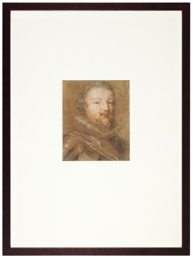 View 3. Thumbnail of Lot 17. Portrait of a portly, bearded soldier.
