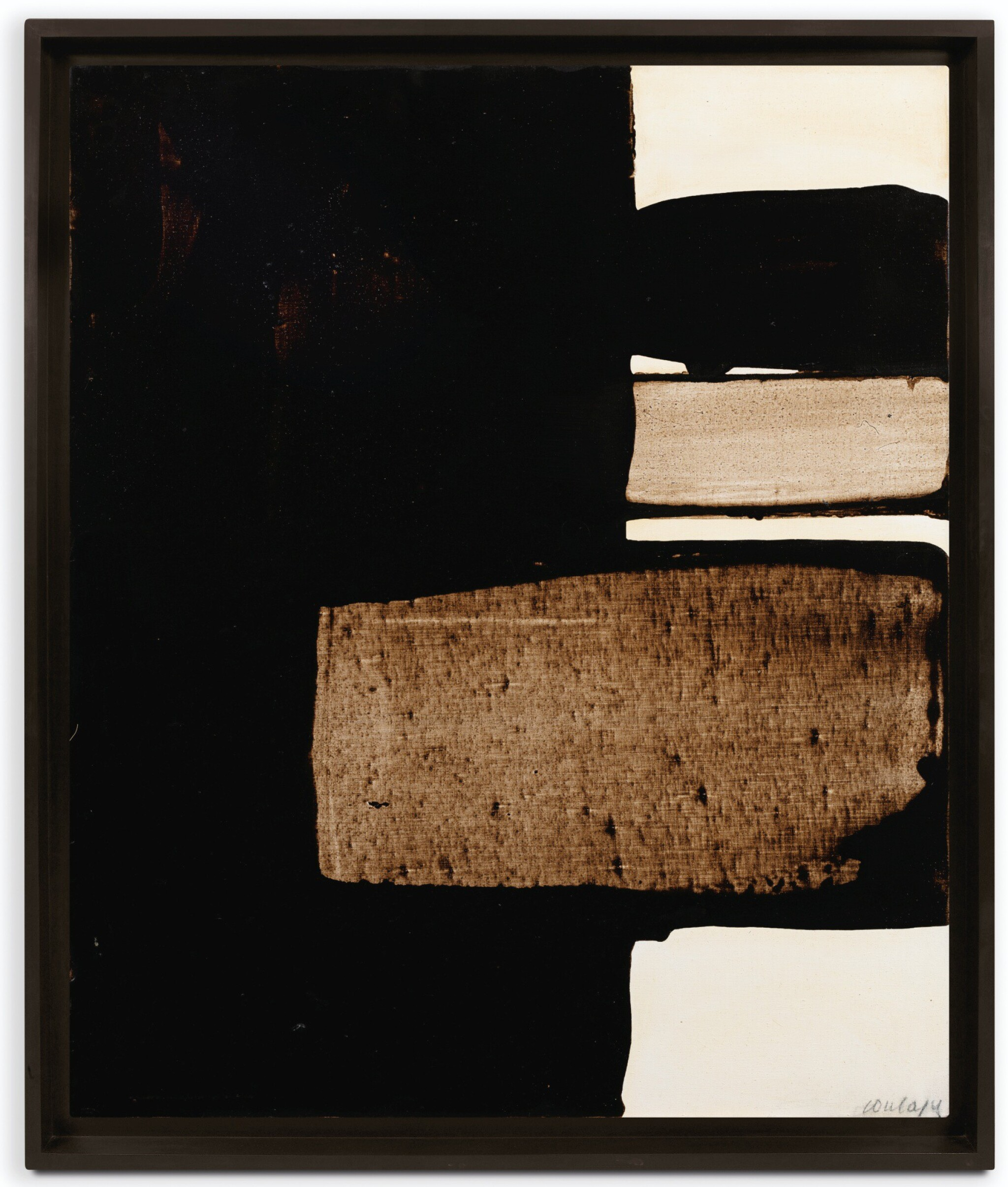 View full screen - View 1 of Lot 20.  PIERRE SOULAGES | PEINTURE 73 X 60 CM, 15 SEPTEMBRE 1975.