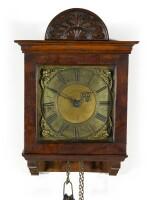 Thomas Tompion: A small walnut 30-hour wall clock, London, circa 1700