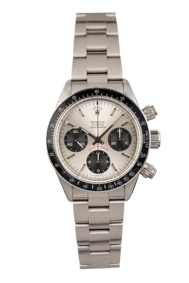 View 1. Thumbnail of Lot 12. ROLEX | Daytona, Ref 6263 A Stainless Steel Chronograph Wristwatch with Bracelet 1978.
