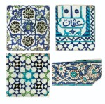 A Group of Four Ottoman Iznik and Damascus Pottery Tiles, Turkey and Syria, 16th and 17th Centuries