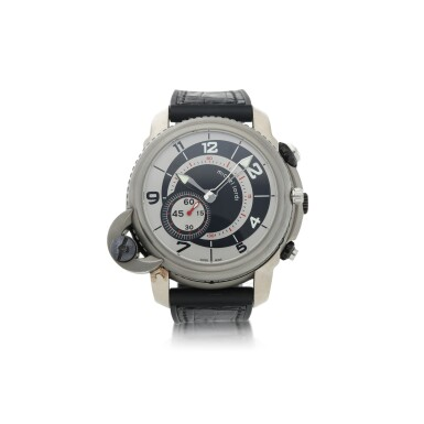 TWINS TITAN GMT A LIMITED EDITION TITANIUM DUAL DIALLED, DUAL TIME, FLY-BACK CHRONOGRAPH WRISTWATCH WITH DATE CIRCA 2010