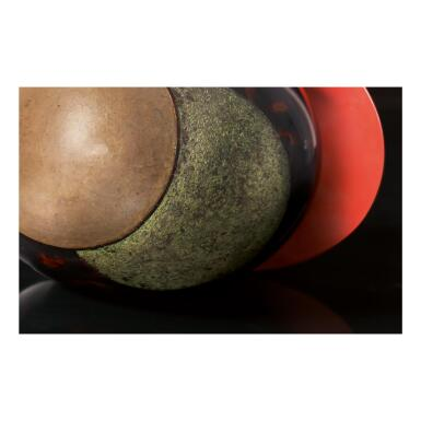 """View 5. Thumbnail of Lot 6. JEAN DUNAND   """"AILETTE"""" VASE."""