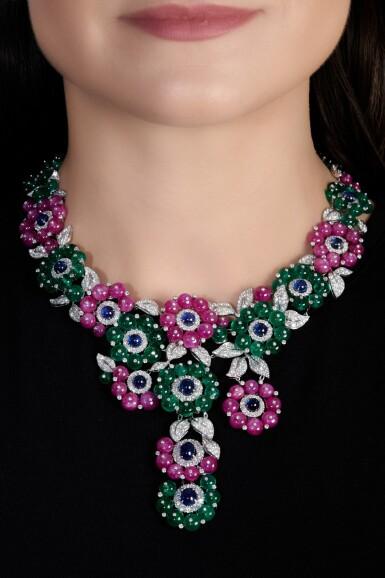 View 4. Thumbnail of Lot 653. Michele della Valle   Gem set and diamond necklace   Michele della Valle   寶石配鑽石項鏈.