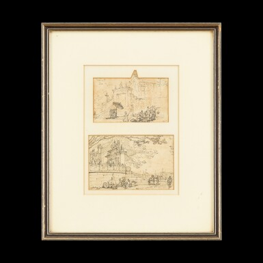 View 1. Thumbnail of Lot 203. George Chinnery (1774-1852) Two Sketches of Macau   錢納利(1774-1852年)   素描澳門人物風景圖兩幅 紙本鉛筆 鏡框.
