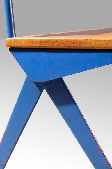View 5. Thumbnail of Lot 31. Marcoule bench, designed in 1955.