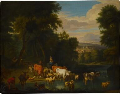 View 2. Thumbnail of Lot 59. Pastoral landscape.