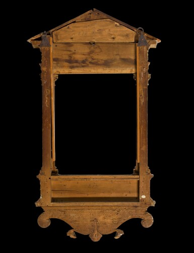 View 2. Thumbnail of Lot 170. A North Italian Renaissance style painted and parcel gilt gesso and wood tabernacle frame, probably Tuscany, incorporating old elements.