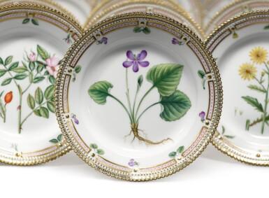 View 2. Thumbnail of Lot 17. A Set of Twelve Royal Copenhagen 'Flora Danica' Salad Plates, Modern.