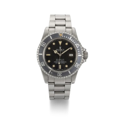 View 1. Thumbnail of Lot 372. ROLEX | 'TRIPLE SIX' SEA-DWELLER, STAINLESS STEEL WRISTWATCH WITH DATE REFERENCE 16660, CIRCA 1985.