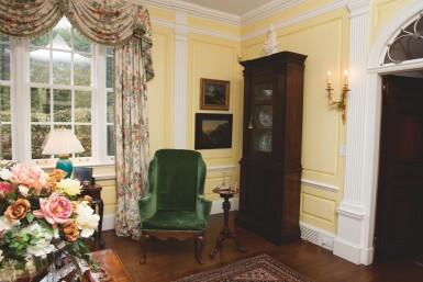 View 5. Thumbnail of Lot 555. A QUEEN ANNE WALNUT WING ARMCHAIR, CIRCA 1715.