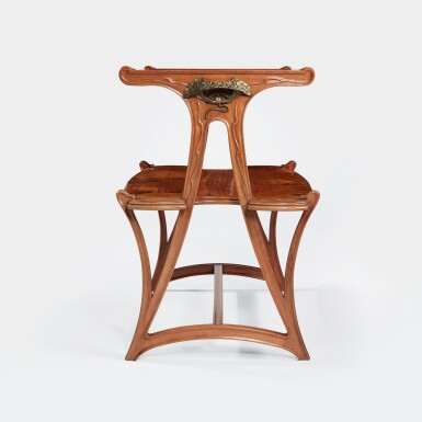 """View 2. Thumbnail of Lot 19. """"Butomées"""" Two-Tiered Tea Table."""