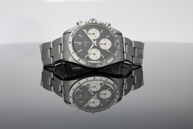 View 9. Thumbnail of Lot 1. ROLEX | REFERENCE 6239 'DOUBLE SWISS UNDERLINE' DAYTONA   A STAINLESS STEEL CHRONOGRAPH WRISTWATCH WITH REGISTERS, CIRCA 1963.