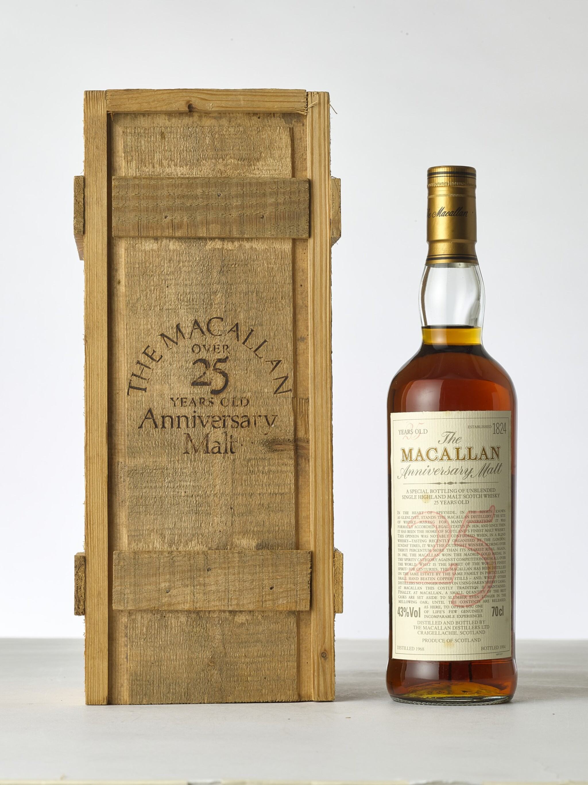 View 1 of Lot 2007. The Macallan 25 Year Old Anniversary Malt 43.0 abv 1968 (1 BT70).