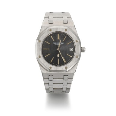 View 1. Thumbnail of Lot 333. AUDEMARS PIGUET   NON SERIES ROYAL OAK REF 5402, STAINLESS STEEL WRISTWATCH WITH DATE AND BRACELET, CIRCA 1974.
