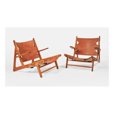"BØRGE MOGENSEN | PAIR OF ""HUNTING"" CHAIRS, MODEL NO. 2229"