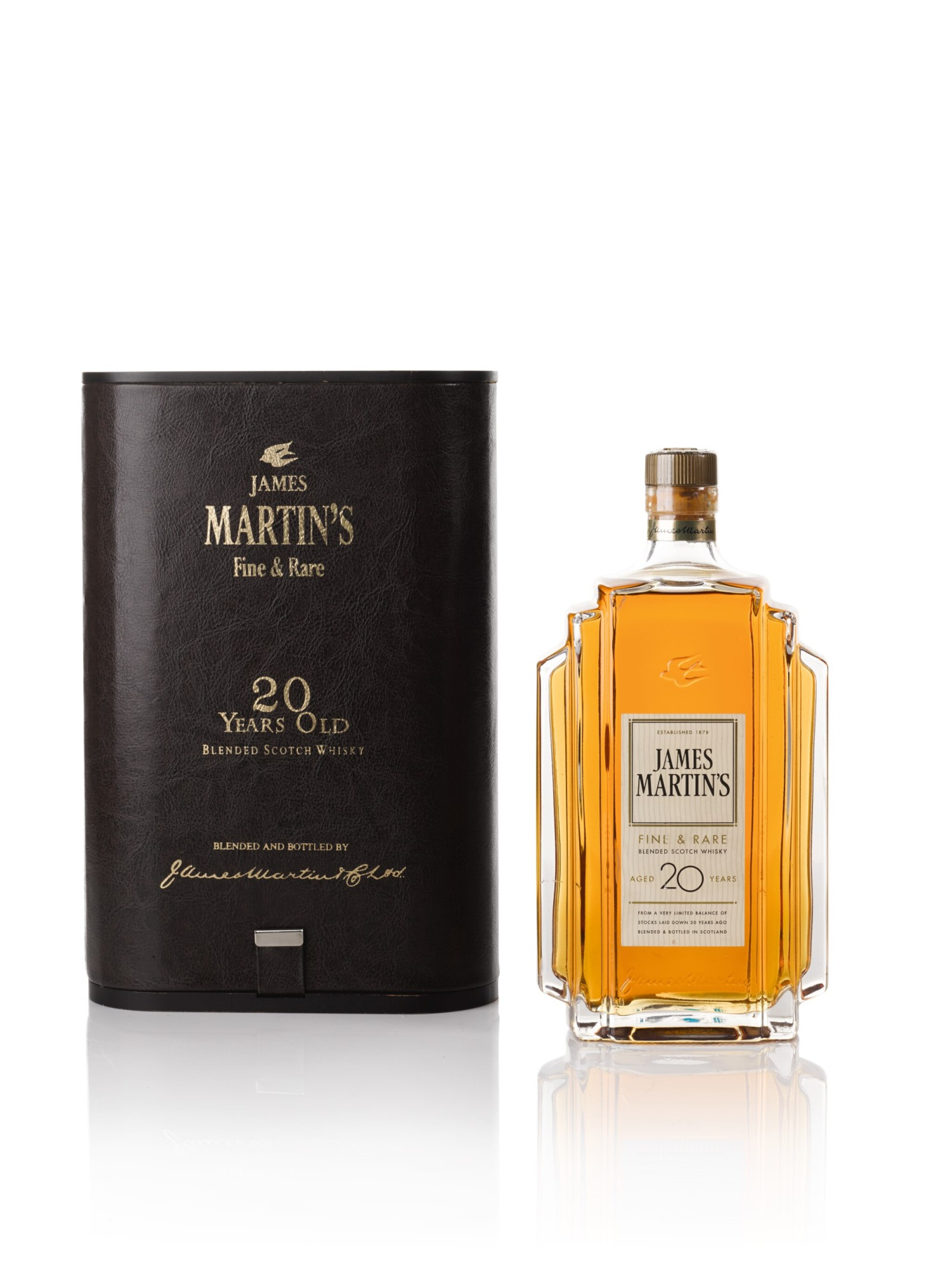 View full screen - View 1 of Lot 105. James Martin's Fine and Rare 20 Years Old Blended Scotch Whisky 47.0 abv NV .