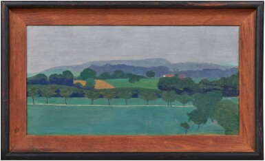 View 2. Thumbnail of Lot 15. Paysage vaudois, Romanel, 1900.