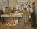 KONSTANTIN FEDOROVICH YUON | In the Dining Room (Portrait of the Weideman Family at Petrovskoe)