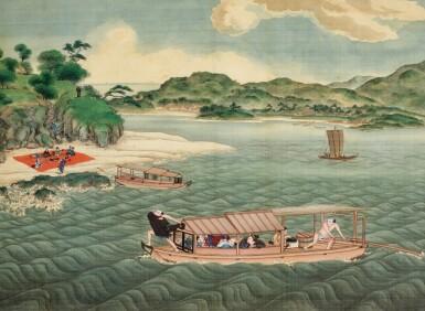 View 8. Thumbnail of Lot 116. ATTRIBUTED TO KAWAHARA KEIGA (1786–1860) STUDIO, A GROUP OF ELEVEN VIEWS STUDIO, EDO PERIOD, EARLY 19TH CENTURY  .