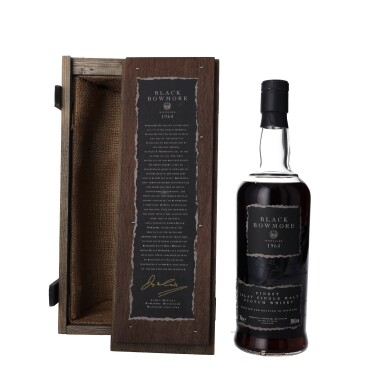 View 2. Thumbnail of Lot 3. Bowmore Black Second Release 50.0 abv 1964 (1 BT75).