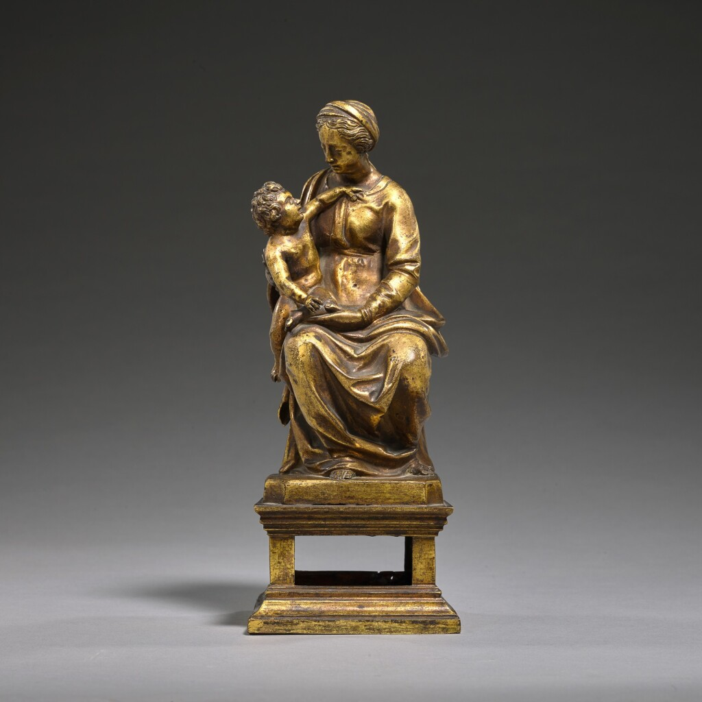 ITALIAN, PROBABLY FLORENCE, FIRST HALF 16TH CENTURY | VIRGIN AND CHILD ENTHRONED
