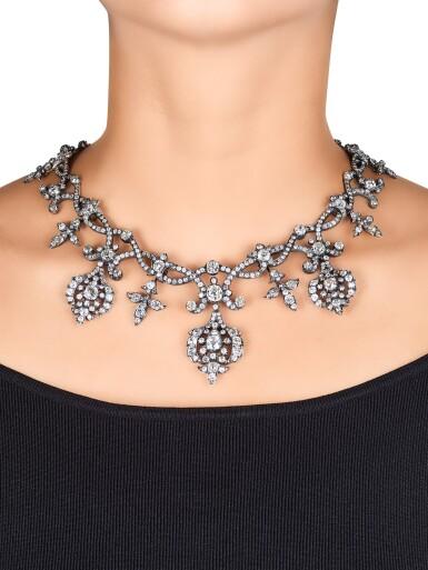 View 4. Thumbnail of Lot 1690. Diamond Tiara / Necklace, Late 19th Century | 鑽石冠冕 / 項鏈, 19世紀末.
