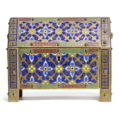 View 2. Thumbnail of Lot 11. French, 19th century, In Limoges, 13th century Style | Casket.