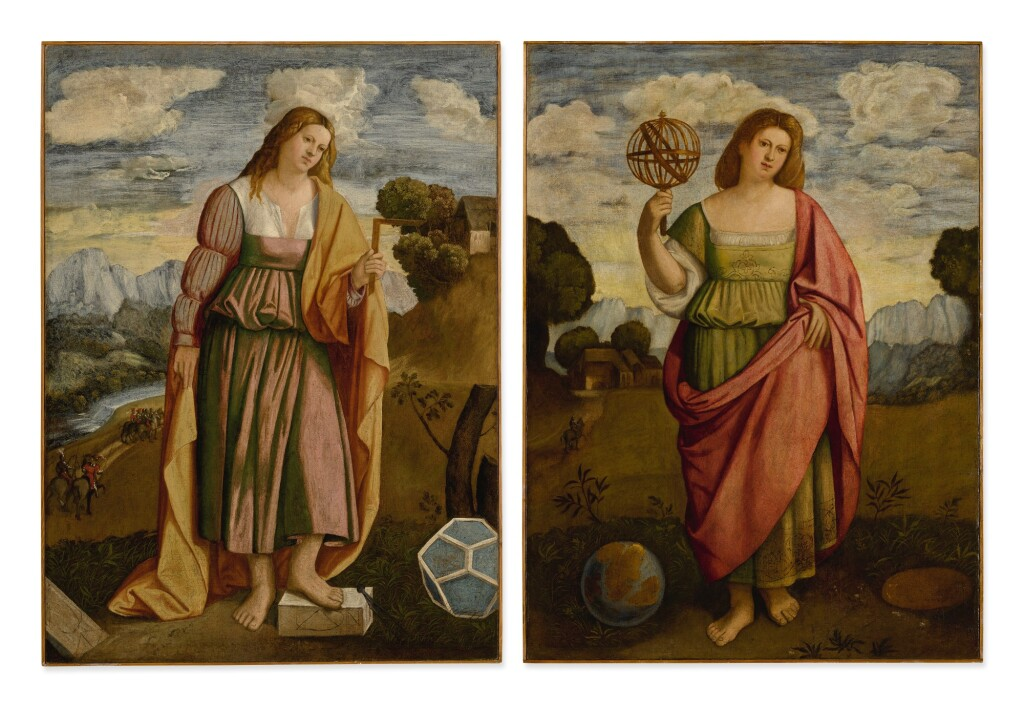 LOMBARD/VENETIAN SCHOOL, 16TH CENTURY |  ALLEGORY OF GEOMETRY; ALLEGORY OF GEOGRAPHY