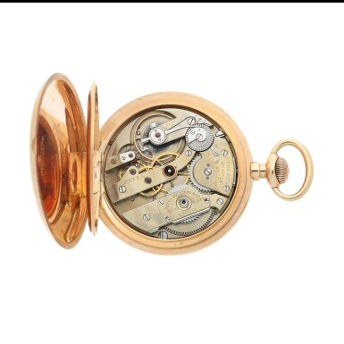 View 3. Thumbnail of Lot 56. RETAILED BY JAQUES & MARCUS, NEW YORK: A PINK GOLD OPEN FACED WATCH, CIRCA 1900.