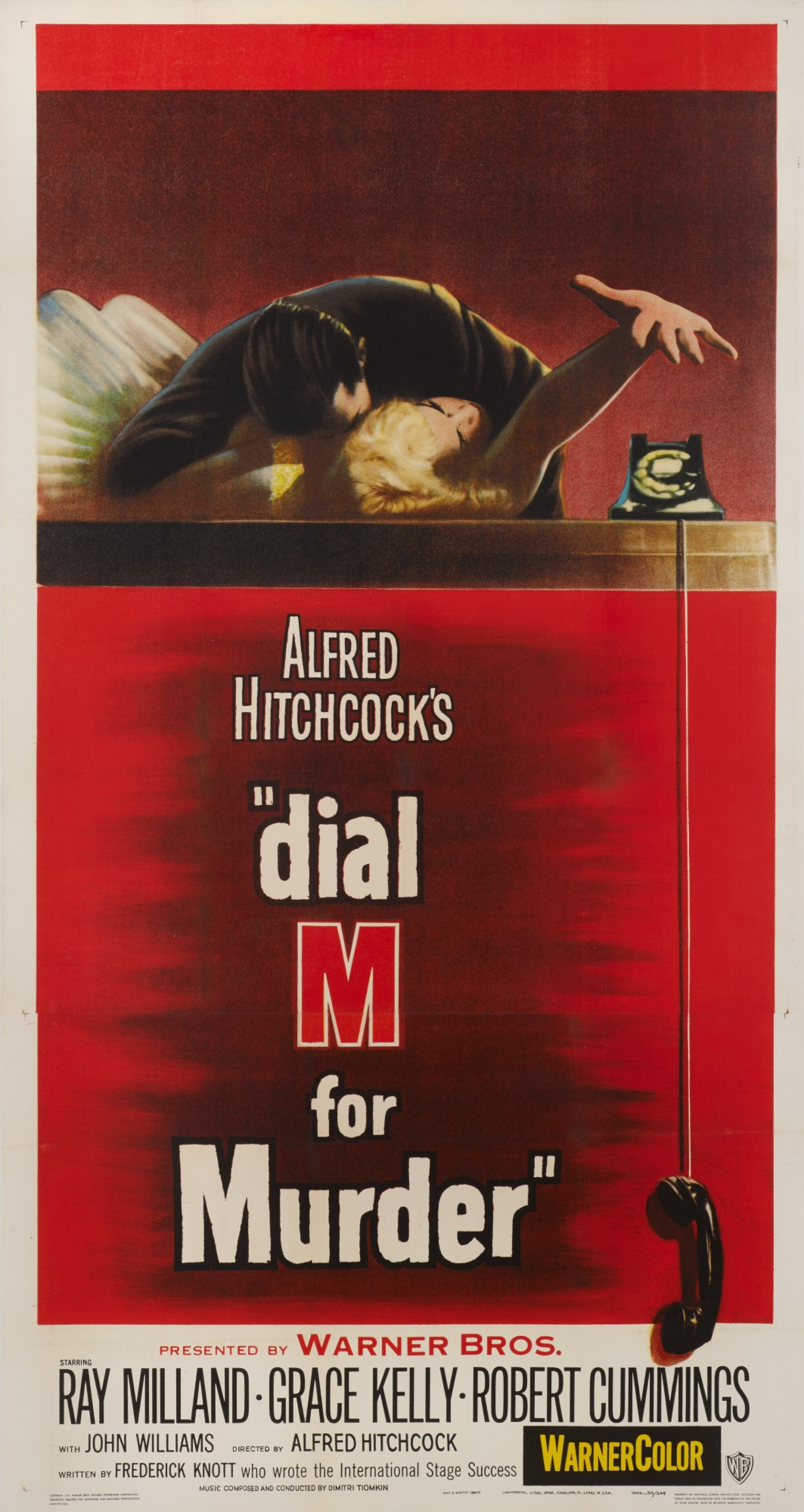 Hitchcock Dial M for Murder Grace Kelly movie poster print