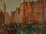 SIR FRANK BRANGWYN, R.A., R.W.S. | Unloading Cargo, Bruges
