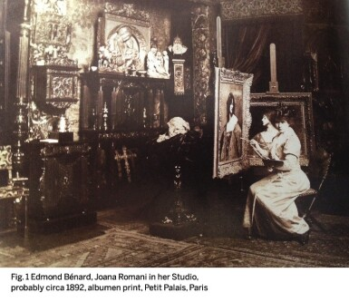 View 5. Thumbnail of Lot 6. JUANA ROMANI | PORTRAIT OF A WOMAN WITH RED HAIR.